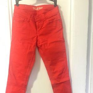 Old Navy Rockstar Jeans Orange Size 4
